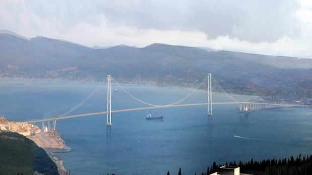 Körfez Geçiş Köprüsü nün çoğu bitti azı kaldı!