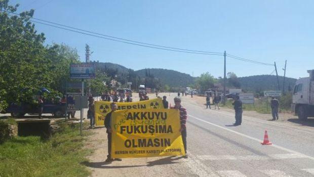 Akkuyu Nükleer Güç Santrali inşaat alanı girişinde eylem!