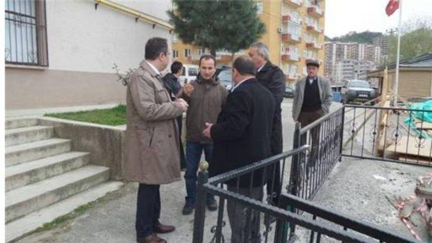 Giresun Belediye Başkanı Kerim Aksu heyelan bölgesinde!