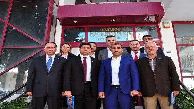 CHPnin 3 inşaat mühendisi milletvekili adayından İMOya ziyaret!