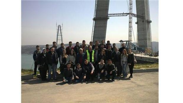İnşaat teknolojisi öğrencilerden Yavuz Sultan Selim Köprüsüne teknik gezi!