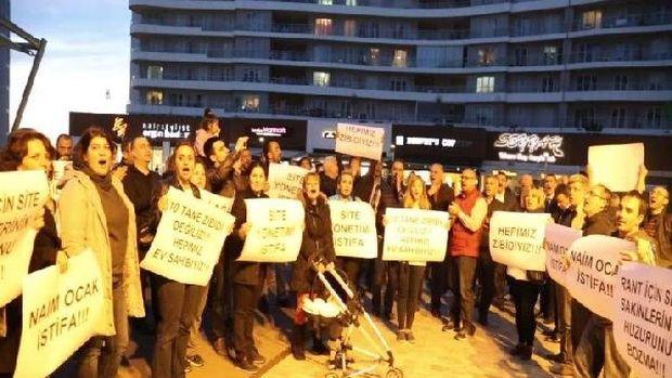 Site sakinlerinden Ali Ağaoğlu protestosu!