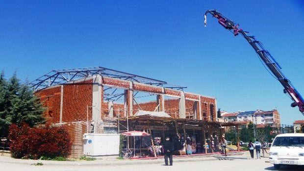 Ertuğrulgazi Mahalle Konağı'nın 2. Katında inşaat çalışmaları devam ediyor!