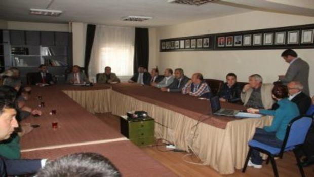 Talas Belediye Başkanı inşaatçılarla toplantı yaptı!