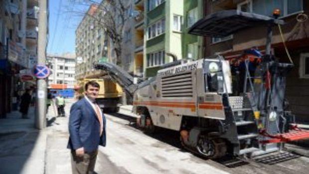 Bursa Osmangazide yollar yenileniyor!
