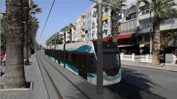 İzmir Karşıyaka Konak tramvay projesi ray döşemesi!