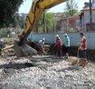 Zonguldak'ta pompasız mikserle getirilen betonu