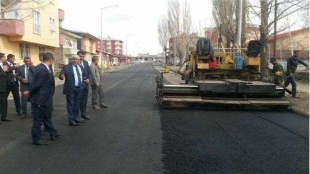 Kars belediyesi asfalt sezonunu açtı!