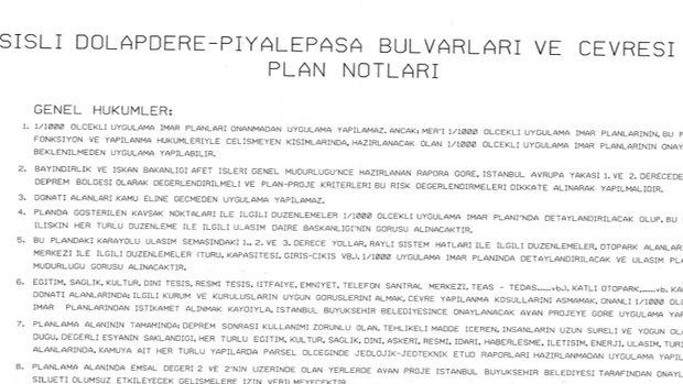 Dolapdere Piyalepaşa Bulvarı imar planı askıda!