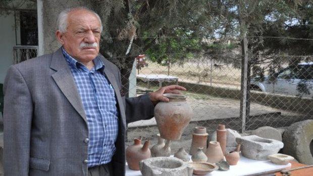 İnşaat kazılarında çıkan tarihi eserleri müzeye bağışladı!