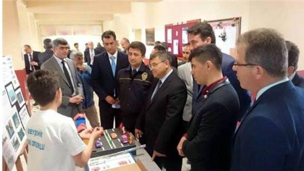 Konya Beyşehirde öğrencilerin projeleri görücüye çıktı!