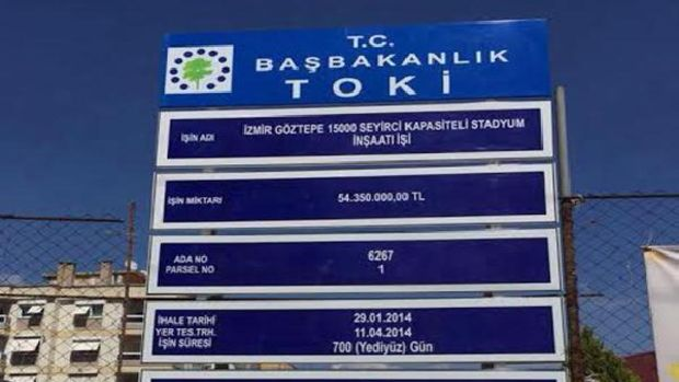 İzmir Göztepenin stat tepkisi!