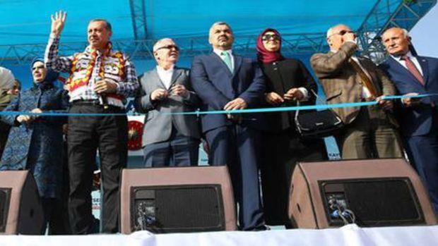 Erdoğan, Kayseride toplu açılış törenine katıldı!