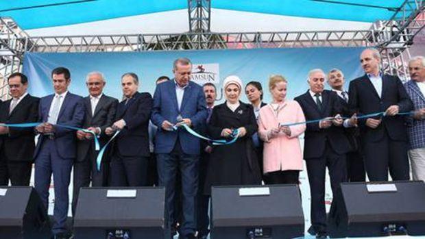 Erdoğan Samsun'da toplu açılış törenine katıldı!