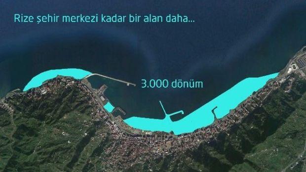 Rizede denizin üzerinde yeni bir şehir kurulacak!