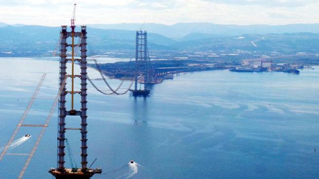 Körfez Geçiş Köprüsü inşaatı  tam gaz devam ediyor!