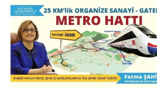Gaziantep Organize-Gatem arasına metro!