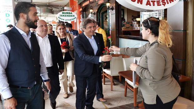 Başkan Demircan Ataşehirde esnaf ziyaretinde!