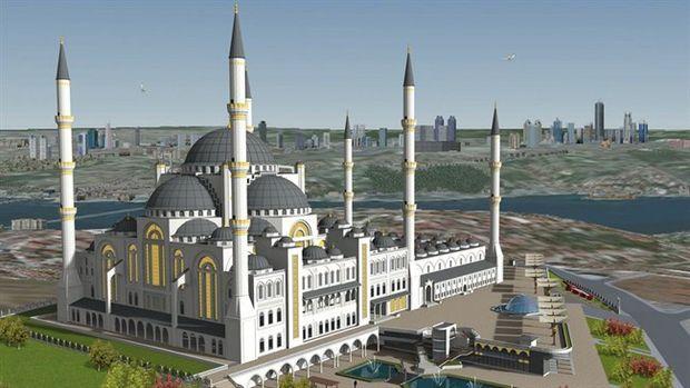 Çamlıca Camii hızla yükseliyor !