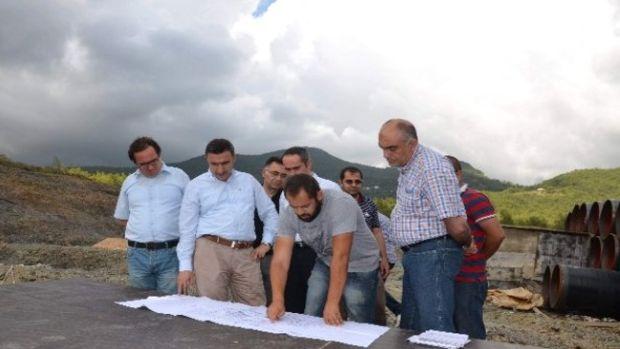 DSİ 13. Bölge Müdürü Özgür, Naras Sulaması Ve Alanya Arıtma Tesisi İnşaatlarını inceledi!