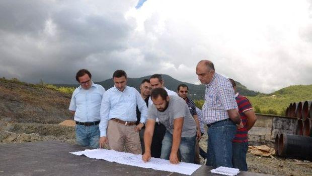 Özgür, Naras Sulaması Ve Alanya Arıtma Tesisi inşaatlarını inceledi!