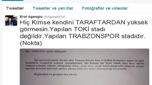 Trabzonsporla TOKİ arasında fotoğraf krizi!