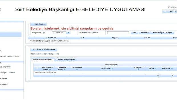 Siirtte e-belediyecilik sistemi hizmete girdi!
