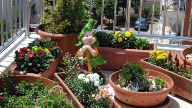 Antalyanın en güzel balkon ve bahçesi!