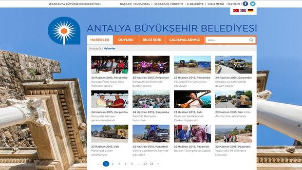 Antalya Büyükşehir Belediyesinin web sitesi yenilendi!