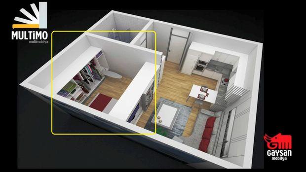 38 metrekare ev içine neler sığmaz ki?