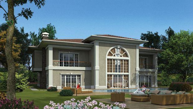 Batı Mahal villa bahçeleri bin 700 metrekareden başlıyor!