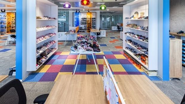 Renklerin rehberliğinde tasarlanan ofis!