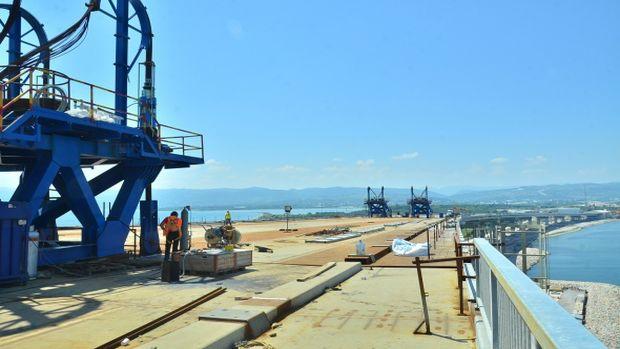 Körfez Geçiş Köprüsünde en ağır parçanın montajı tamamlandı!