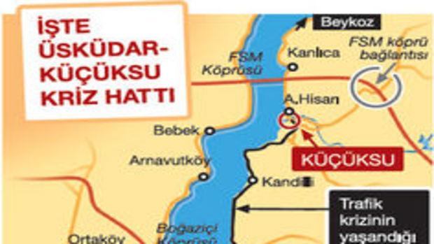 Üsküdar-Küçüksu trafik krizine denizden çözüm!