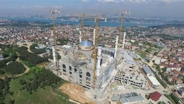 Çamlıca Camii'nin Kabası Bitti