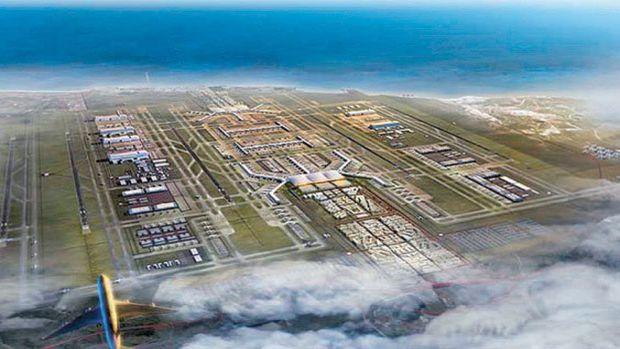 3.Havalimanı'nın İlk Kolonu Takıldı