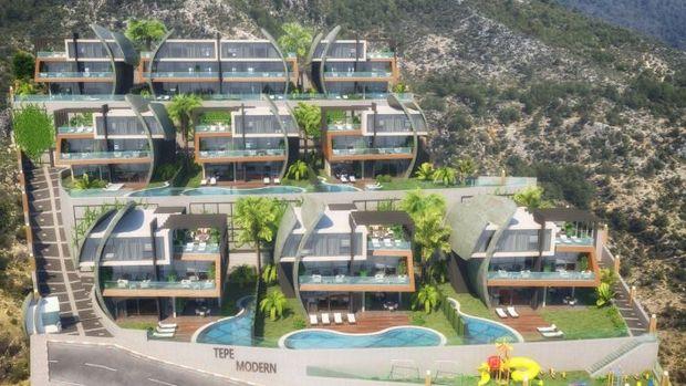 Tepe Modern Alanya Fiyatları 500 Bin Avrodan Başlıyor