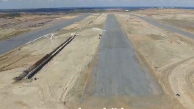 3.Havalimanı'nın İlk Pisti Görünmeye Başladı
