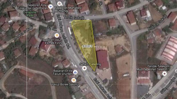 Tuzla Belediyesi Tepeören'deki Arsasını Satışa Çıkarıyor