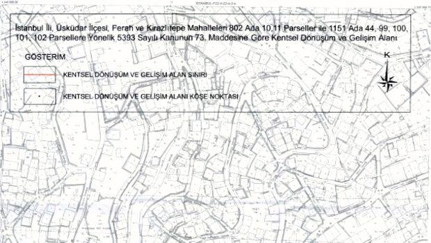 Üsküdar Ferah ve Kirazlıtepe Kentsel Dönüşüm Planları Askıda
