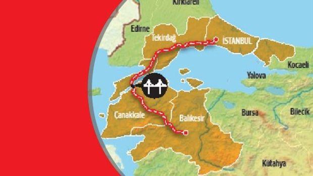Kınalı-Tekirdağ-Çanakkale-Savaştepe Otoyolu Çed'i Geçti