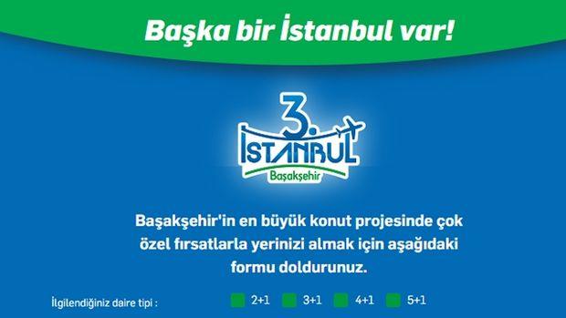 3.İstanbul Başakşehir Fiyat Listesi! Satışta!