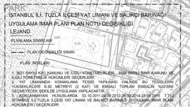 Tuzla Yat Limanı İmar Planı Onaylandı
