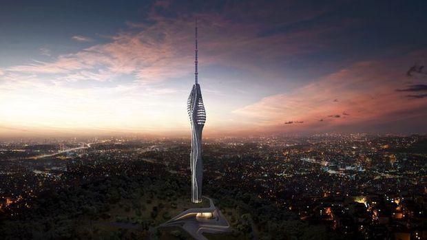 395 Metrelik Çamlıca TV Kulesi Şekillenmeye Başladı