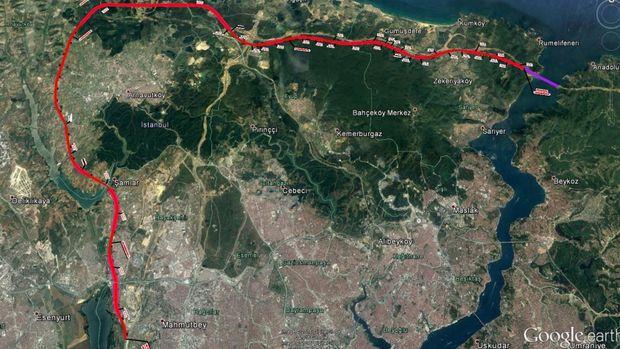 3.Köprü 3.Havalimanı Halkalı Demiryolu Güzergahı Belli Oldu