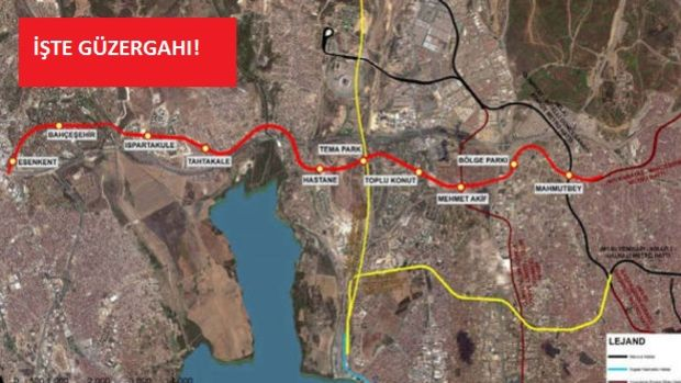 Mahmutbey Esenyurt Metro İhalesi 31 Mart'ta