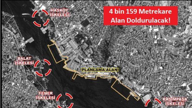 Haliçport Projesi Kapsamında Denize Dolgu Yapılacak