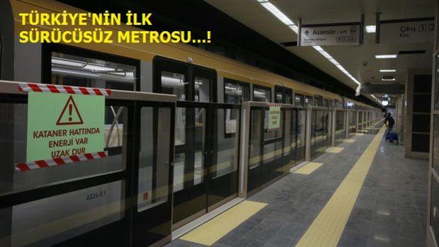 Üsküdar Sancaktepe Metro Hattı Test Sürüşünde