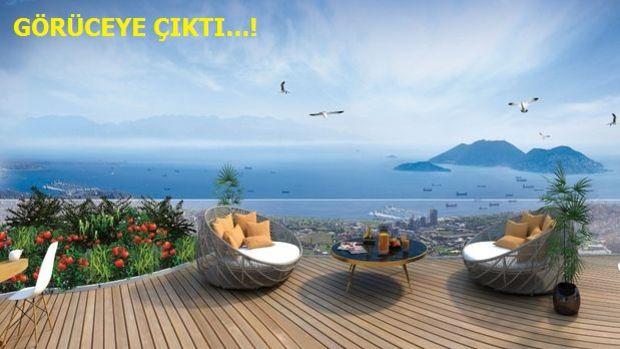 Dap Yapı Teras Kule 2 bin 200 TL Taksitle Adalar'a Baktırıyor