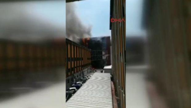 Halkalı Devlet Hastanesi'nde Korkutan Yangın